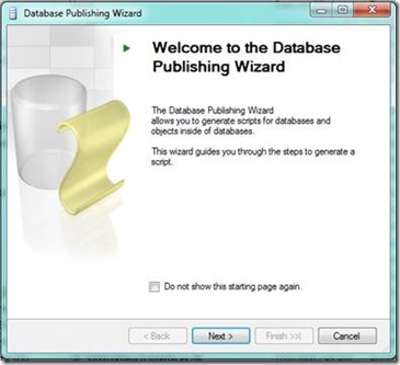 Database Publishing Wizard
