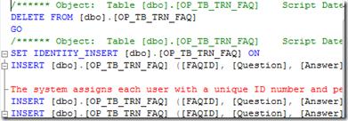 Database Publishing Wizard - Generated Script