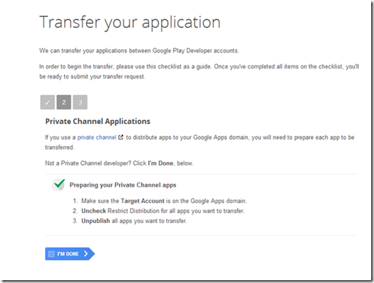 Google Play: App Transfer Checklist