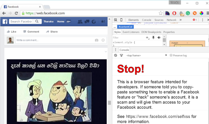 Facebook-Self-XSS-Warning